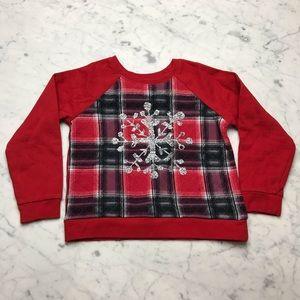 Arizona Jean Co. Snowflake Red Holiday Sweatshirt
